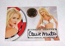 2012 Benchwarmer CARRIE MINTER Vegas Baby #11 Gold Foil Auto PLAYBOY Playmate