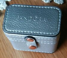 AUTHENTIC PANDORA JEWELRY METALIC SILVER RINGS/CHARMS CARRYING CASE NWOT