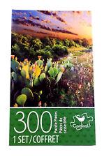 "Texas Sunset Cactus Wild Flowers Jigsaw Puzzle 300 Pieces 11"" X 14"" Piece NEW"