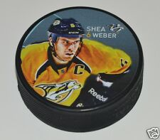 SHEA WEBER Nashville Predators PLAYER PHOTO PUCK NEW Souvenir In Glas Co. ERROR