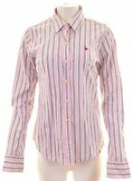 JACK WILLS Womens Shirt Size 14 Medium Multicoloured Striped Cotton  ED18