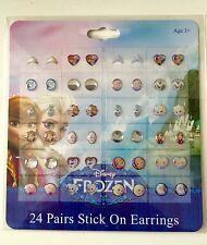 Disney Frozen Stick On Earrings 24 Pack - Jewellery Party Bag Filler