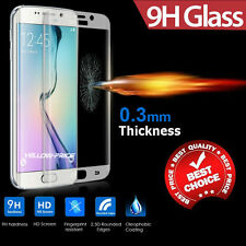 Samsung Galaxy S6 Edge Thin Clear Full Curved 3D Tempered Glass Screen Protector
