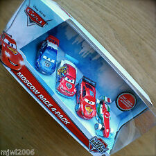 Disney PIXAR Cars MOSCOW RACE 4-PACK FRANCESCO BERNOULLI! ICE RACERS Diecast set