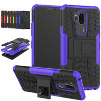 For LG G7 ThinQ G6 Q6 Case Heavy Duty Armor Shockproof Kickstand Phone Cover