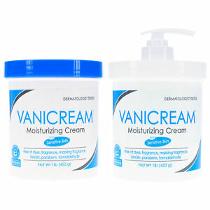 Vanicream •  Moisturizing Skin Cream •  1 Jar w/ Pump + 1 Jar • 16oz each