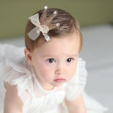 |SILVER big glitter crown on a clip with bow and diamante girls hair accessories