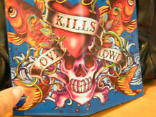 ED HARDY UNISEX WALLET KILLS-LOVE- HEART- SKULL & KOI FISH CC & BILLS BIFOLD