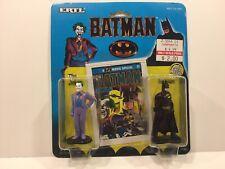 1990 Ertl Batman & Joker 2 Piece Diecast Figure Set New Unopened