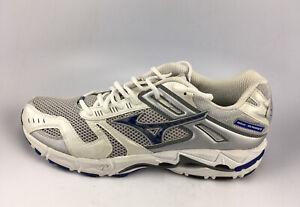 Mizuno Wave Alchemy 5 Running/ Training Shoes Men's Sz 14 US White/ Silver/ Blue