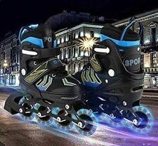 New ListingAdjustable Inline Skates Roller Blades Unisex Adult Kids Breathable Flash h