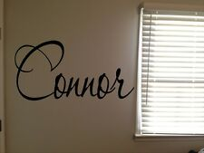 Custom Connor Boys Room Name Nursery Baby Kids Vinyl Wall Art Quote Sticker