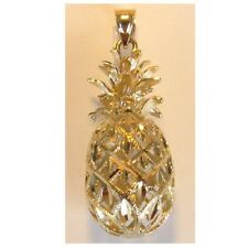 14K Yellow Gold 3D Pineapple Pendant. New C-297-5
