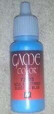 Vallejo Paint Game Color Electric Blue 72023 Eye Dropper Bottle 17ml