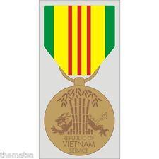 VIETNAM SERVICE MEDAL RIBBON MILITARY WAR  DECAL