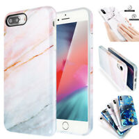 iPhone SE 7 8 Plus XR XS Max Case Marble Hybrid Shockproof TPU Protective Cover