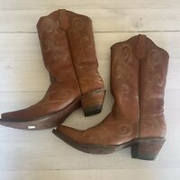 CIRCLE G CORRAL Men's Brown Size 9.5 Leather Western Cowboy Boots