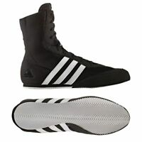 Adidas Box Hog 2 Boxing Boots Adult Boxing Shoes Kids Black Boxing Training Boot