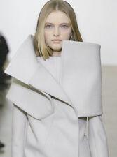 =MASTERPIECE= JIL SANDER X Raf Simons Architectural Minimal Wool Coat Jacket US6