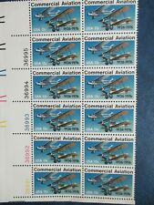 COMMERCIAL AVIATION   Plate block of 12  #1684