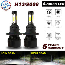 H13 9008 4-Sides Hi/Lo Beam LED Headlight Bulb Kit For Ram 1500 2500 3500 09-12