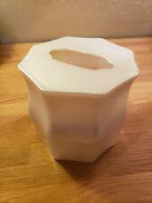 Ivory Shimmer Metallic Square Kleenex Tissue Box Acrylic CoverVGC