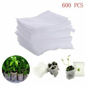 600 Pcs/Pack Non Woven Fabric Nursery Pots Seedling Raising Bags Garden Supplies