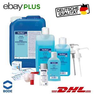 Sterillium 100 - 5000 ml / Bode Dosierpumpe / Sterillium Tissues / SterilliumGel