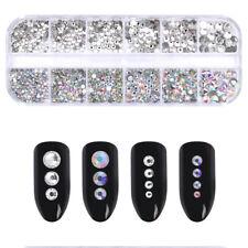 CRISTALLO Diamante Strass Gemme 3D NAIL ART DECORATION 300 pezzi-UK Venditore