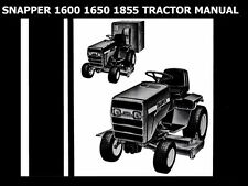 Snapper 1600 1650 1855 Service Manual for Tractor Workshop & Hydrostatic Repair