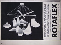 PUBLICITÉ DE PRESSE 1958 LUMINAIRES EN PLASTIQUE ROTAFLEX - ADVERTISING