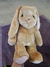 "Build A Bear Bunny Rabbit Tan And Pink Plush 14"" Stuffed Animal Toy Easter BABW"