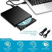 Slim External USB DVD RW CD Writer Drive Burner Reader Player For Laptop PC Mac