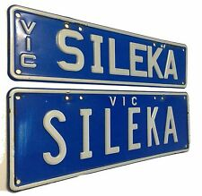 """PERSONALISED Custom SILEKA Victorian LICENCE PLATES Toyota CELICA """"SILLY CAR"""""""