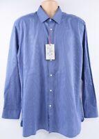"""TED BAKER Men's Textured Endurance Shirt, Navy, size 17.5"""" collar"""