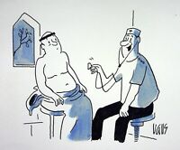[ Humor - Presse ] Guy Valls - Checkup Nassadapter - Zeichnung Original