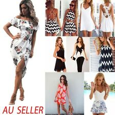 Fashion Womens Summer Boho Floral Beach Dress Evening Cocktail Long Maxi Dresses