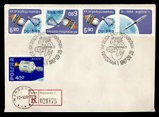 DR WHO 1987 POLAND REGISTERED EXPO SLOGAN CANCEL SPACE TETE BECHE PAIR  g42253