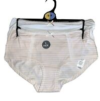 NEW 2 PACK LADIES KNICKERS LOW RISE SHORTS PANTS WHITE MIX MARKS /& SPENCER SPOT