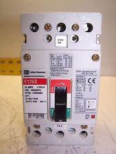 CUTLER HAMMER EGS3025FFG 25 AMP CIRCUIT BREAKER 3 POLE CUTLER HAMMER E125S 25 A