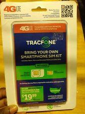 New Tracfone 3x Talk+Text+Data Triple-Cut 4G Lte Sim Kit for Unlocked Gsm Phones