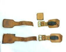 SET OF 2 HARTMANN BRASS BUCKLES LEATHER STRAPS LOGO Luggage Garment Bag Suitcase