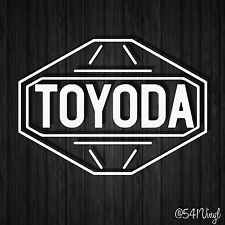 First Generation Toyoda Retro logo Vinyl Decal jdm funny racing car stickers