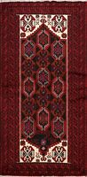 Traditional Geometric Balouch Afghan Area Rug Tribal Hand-knotted 3'x6' Carpet