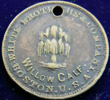 New Listing1890's Willow Calf Store Card, Shoe Token, White Brothers & Company Boston Usa