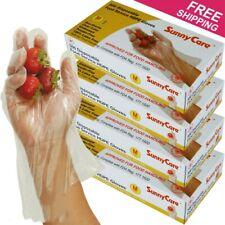 2000pcs Poly HDPE Food Handling Service Gloves Latex Free Size:Medium