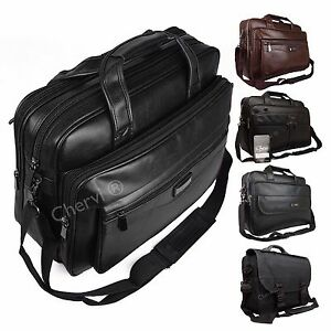 High Quality Faux Leather Executive Doctor Pilot Business Bag Work Briefcase Bag
