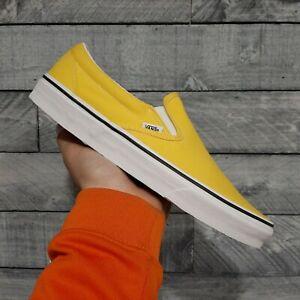 Vans Classic Slip On Vibrant Yellow Men's Shoes Size 10.5
