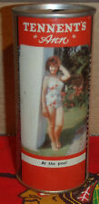 Tennents Pale Ale Ann At The Pool 15.5 oz 440ml Straight Steel Pull Tab Beer Can