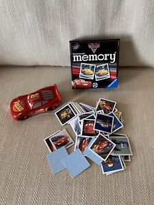 Disney Mattel cars Lightening McQueen Car & Ravenburger Memory Game